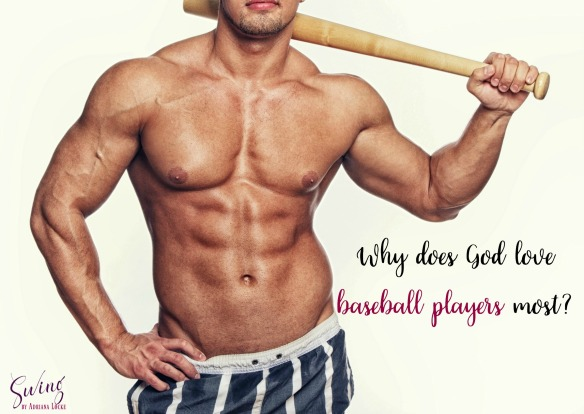 Image of sexy baseball player with bat